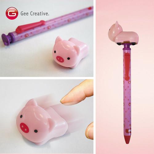 小豬迴力車筆 6
